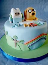 TORTA ADVENTURE TIME - Jake e Finn